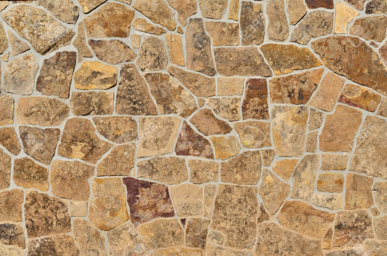 Stone Wall Background For Copy Space Or Wallpaper  Stock Photo