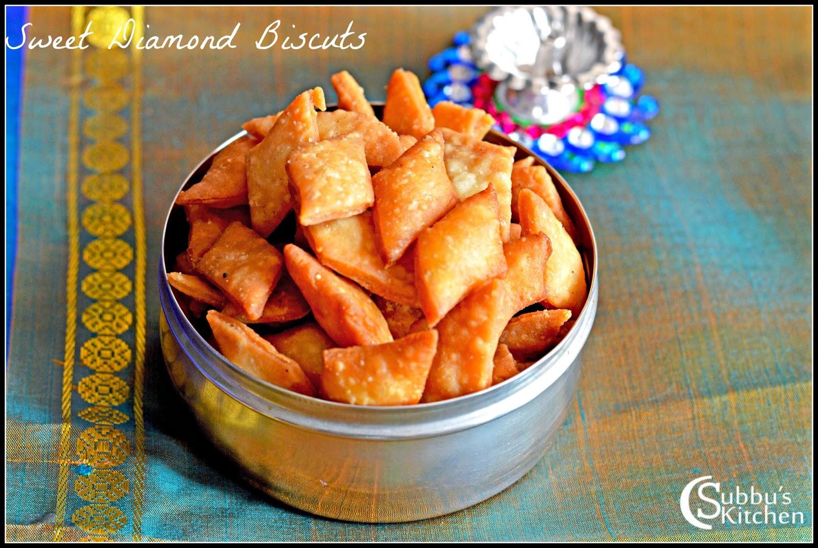 Sweet Thukkada Recipe | Sweet Diamond Cuts Recipe | Sweet Diamond