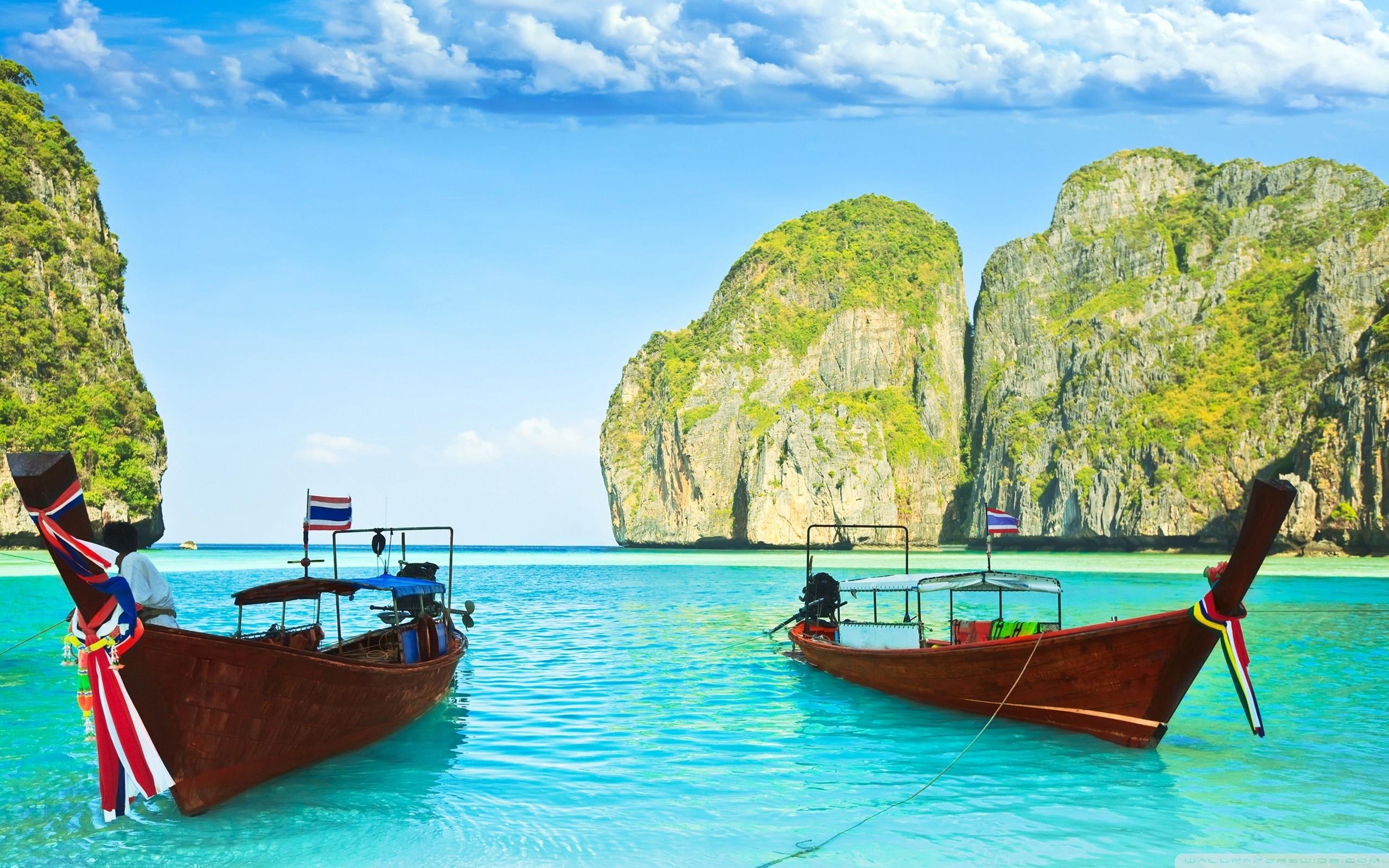 Maya Bay, Thailand HD desktop wallpaper : High Definition