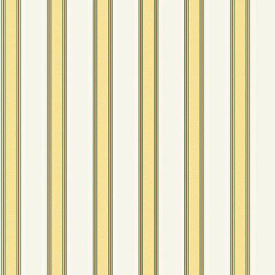 The Wallpaper Company 8 in  x 10 in  Yellow and White Traditional