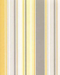 G23186 Smart Stripes Wallpaper Mixed Stripe Yellow Grey on White