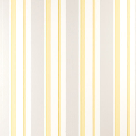 Yellow & White Stripe Wallpaper | Eaton Stripe Camomile Wallpaper